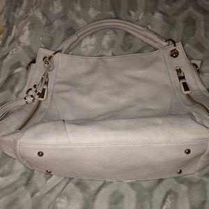 Heather grey purse.